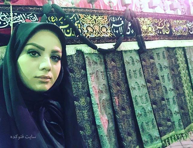 عکس مبینا نصیری مجری زن در هئیت عزاداری(بیوگرافی)
