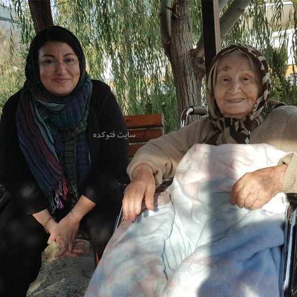 عکس متفاوت دکتر عاطفه میرسیدی خبرنگار با عکس مادرش