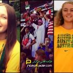 عکس تماشاگران استرالیا و امارات
