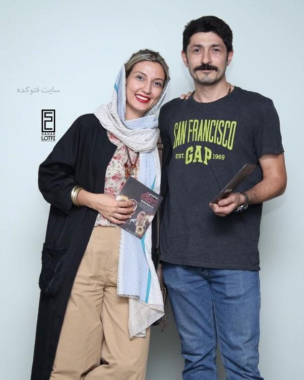 لباس بازیگران زن تابستان 98 حدیث میرامینی و همسرش
