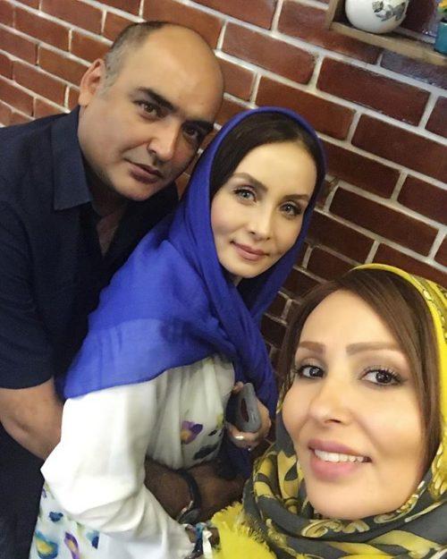 سلفی پرستو صالحی در کنار حدیث فولادوند و همسرش رامبد شکرابی