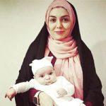 عکس گندم عبادی دختر آزاده نامداری برای اولین بار