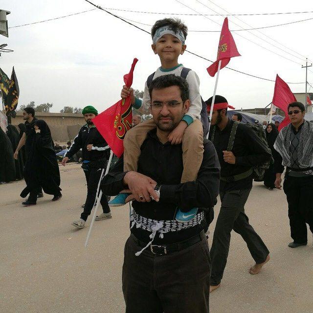 عکس محمد جواد آذری جهرمی و پسرش  بیوگرافی کامل