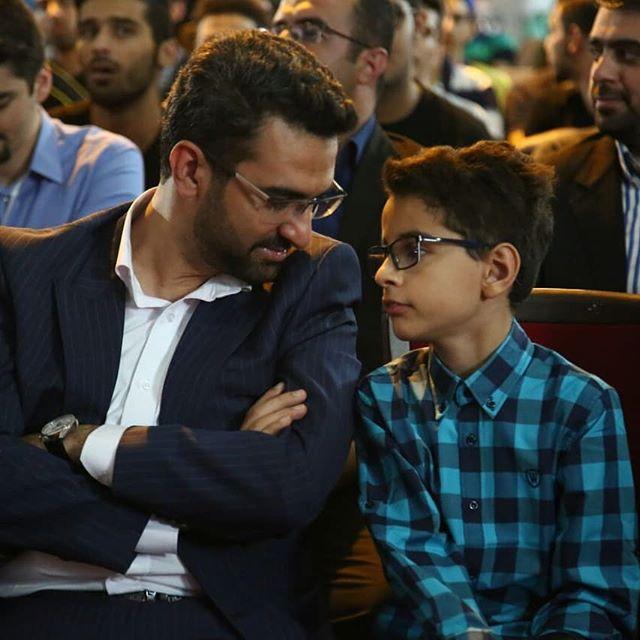عکس آذری جهرمی و پسر بزرگش + بیوگرافی کامل