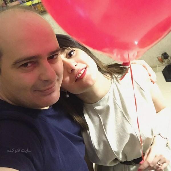 بابک ریاحی پور و همسرش مونا + زندگی شخصی