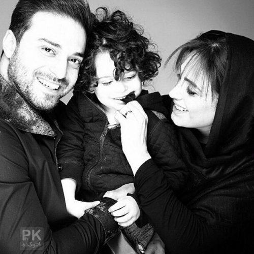 عکس بابک جهانبخش و همسرش مروارید شهریاری و پسرش آرتا