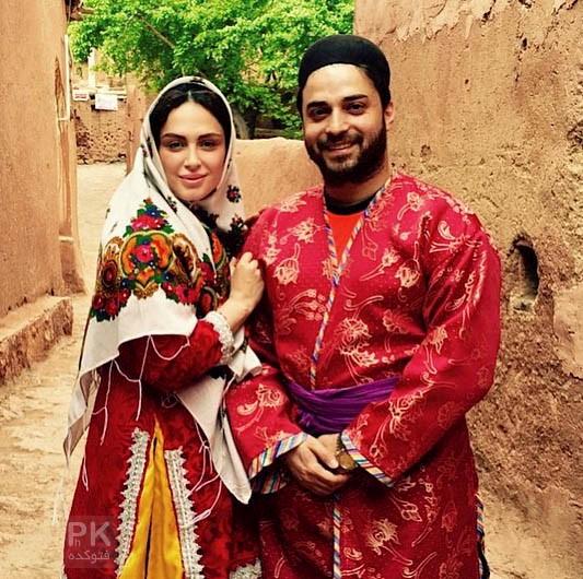 عکس بابک جهانبخش و همسرش مروارید شهریاری در روستای آبیانه + بیوگرافی