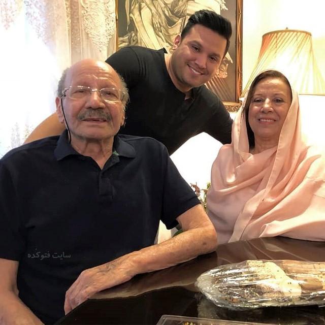 عکسبابک مافی در کنار پدر و مادر + بیوگرافی کامل