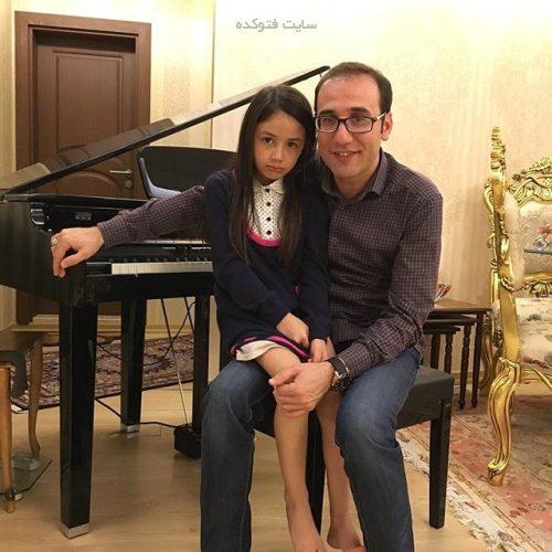 عکس بابک نهرین و دخترش مهتا