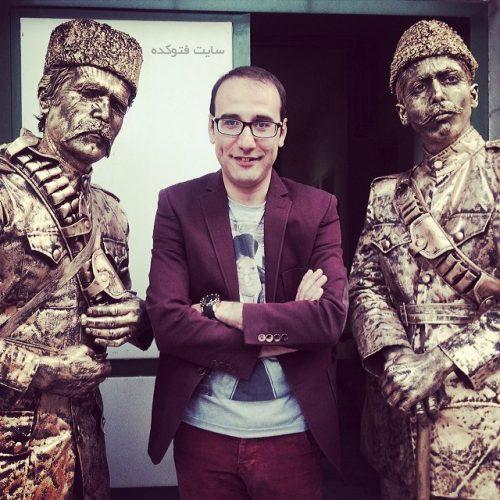 بابک نهرین در کنار ستار خان و باقر خان