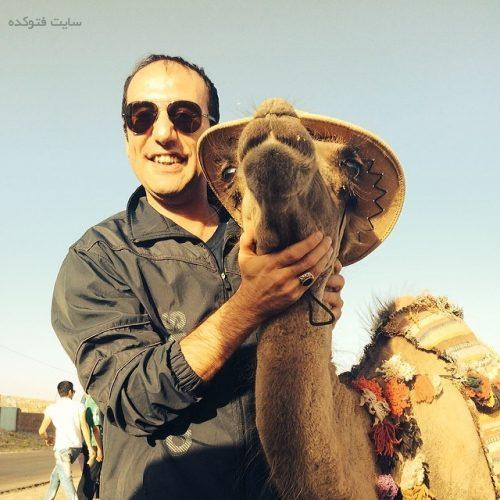 عکس بابک نهرین و شتر