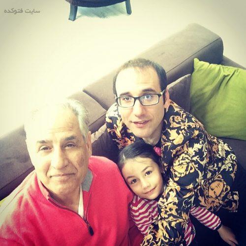عکس پدر و دختر بابک نهرین