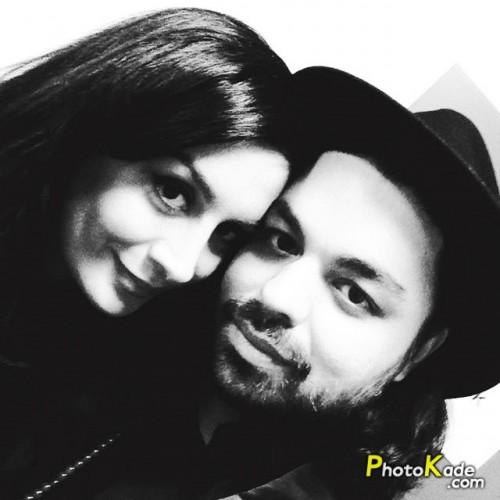 بابک سعیدی و همسرش ندا