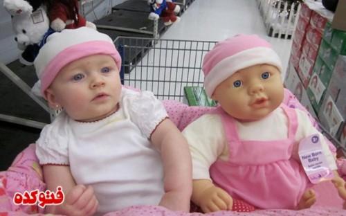 عکسهای شباهت بچه ها و عروسکاشون,عکس جالب بچه هایی که شبیه عروسکاشون هستند,عکس عروسک های واقعی,ایده های جالب عروسک از بچه های واقعی,عروسک جالب شبیه بچه واقعی,عکس جالب بچگانه