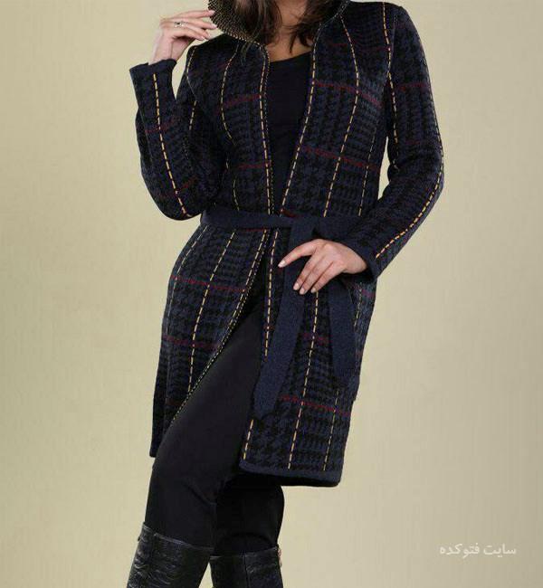 """جدیدترین مدلهای """"مانتو بافت"""" زمستانی 2018"""