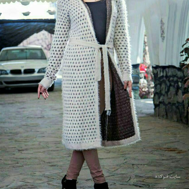 مدل های مانتو بافت جلو باز شیک و قشنگ دخترانه و زنانه