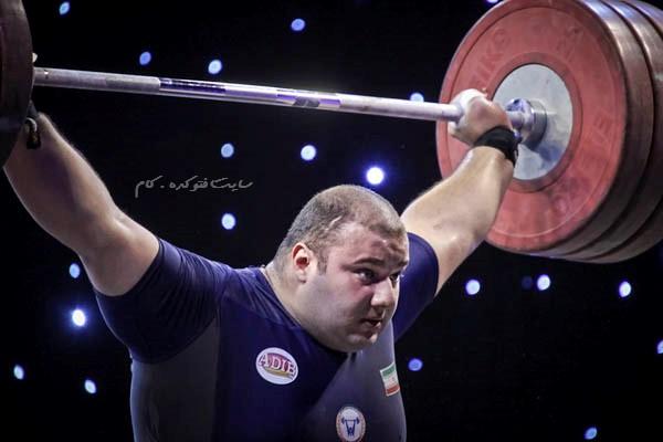 عکس بهادر مولایی وزنه بردار تیم ملی