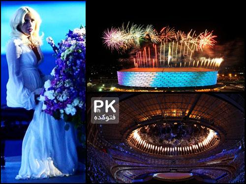 عکس افتتاحیه بازی های اروپایی 2015 در باکو آذربایجان,عکسهای افتتاحیه بازی های اروپایی 2015 باکو آذربایجان,تصاویر افتتاحیه المپیک اروپایی در آذربایجان 2015