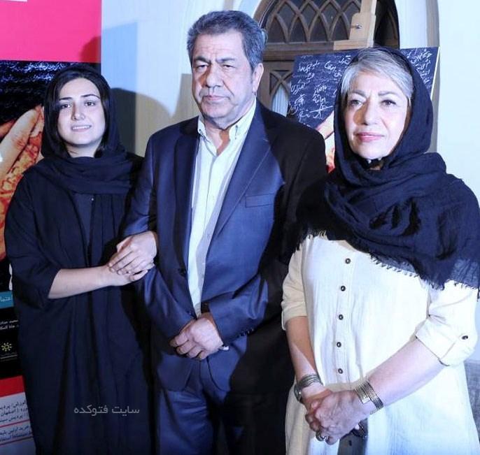 عکس پدر و مادر باران کوثری Baran Kosari بازیگر