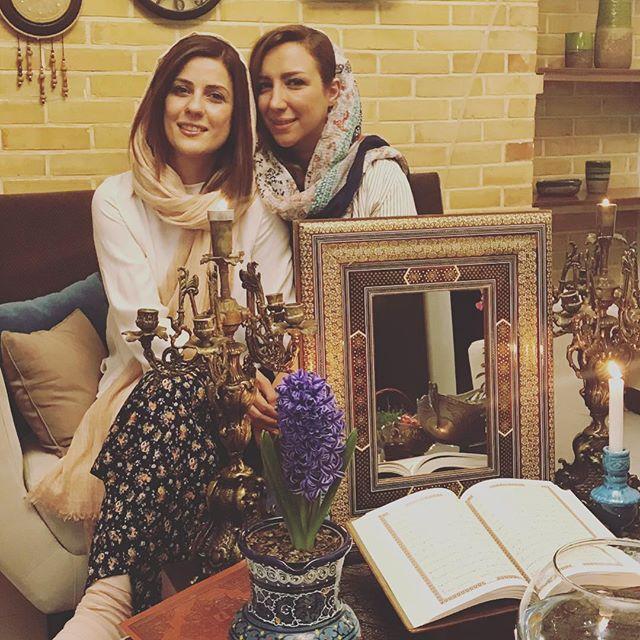 عکس سارا بهرامی و خواهرش در عید 97