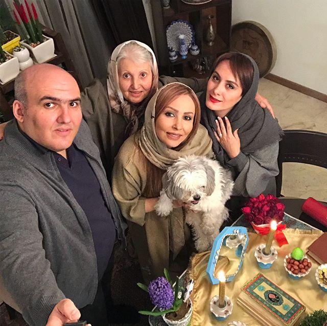 عکس خانواده پرستو صالحی در سال تحویل 97