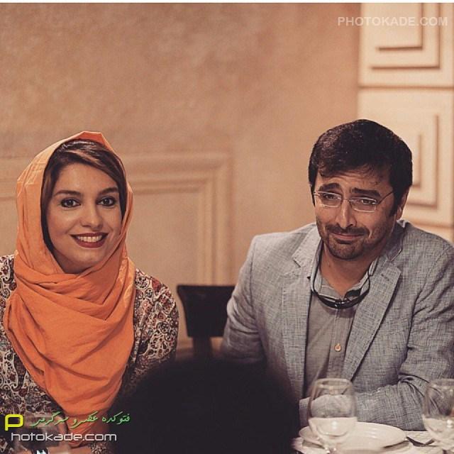 عکس بازیگران ایرانی : امین زندگانی و همسرش الیکا عبدالرازق