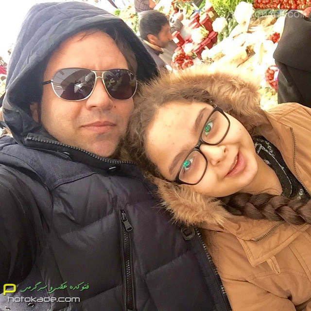 عکس بازیگران ایرانی : شهرام قائدی و دخترش