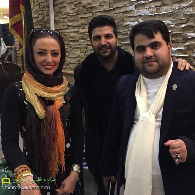 عکس بازیگران ایرانی : مجید خراتها و نفیسه روشن