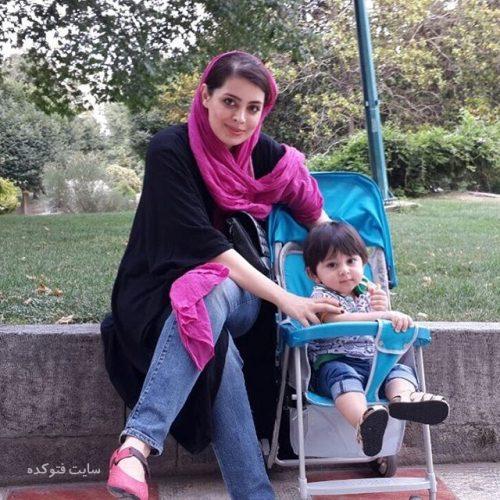 عکس جدید ساناز بیان و پسرش اردیبهشت 96