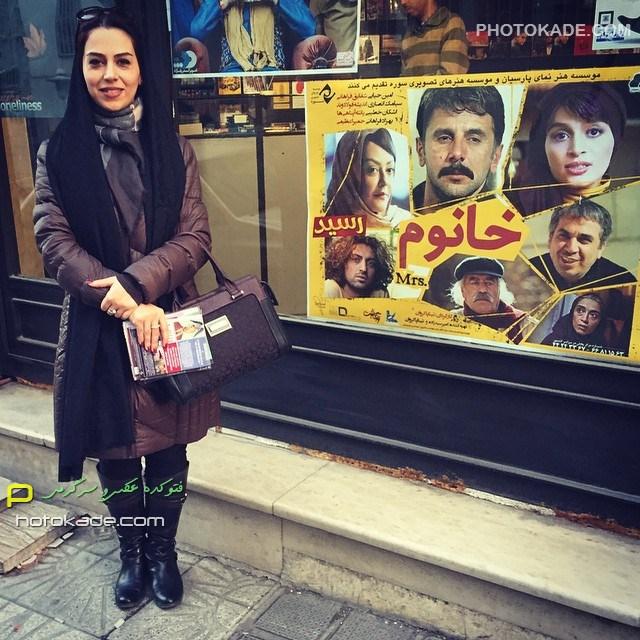 عکس جدید تینا پاک روان زمستان 93 بازیگر زن ایرانی