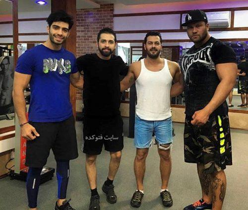 بدنسازی بازیگران ایرانی,عکس های پرورش اندام بازیگران ایرانی,عکس های برهنه از اندام بازیگران مرد ایرانی,عکس زیر بغل و سینه بازیگران ورزشکار مرد ایرانی