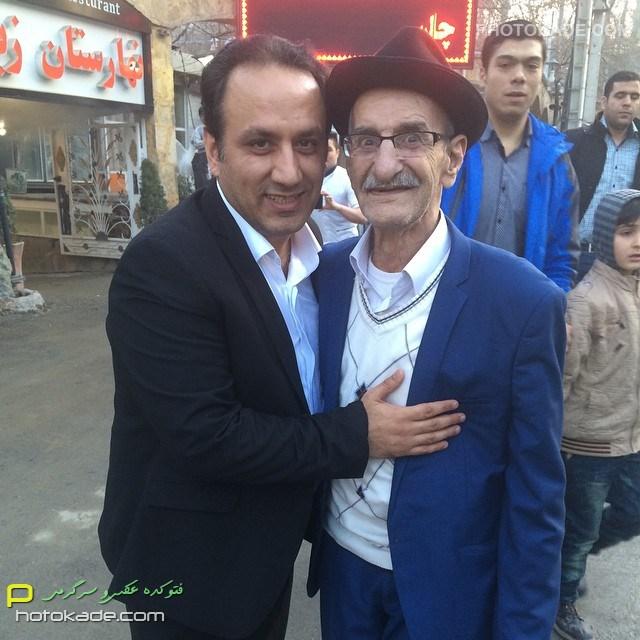 عکس بازیگر مرد احمد پور مخبر و مجری سید محمدرضا حسینی