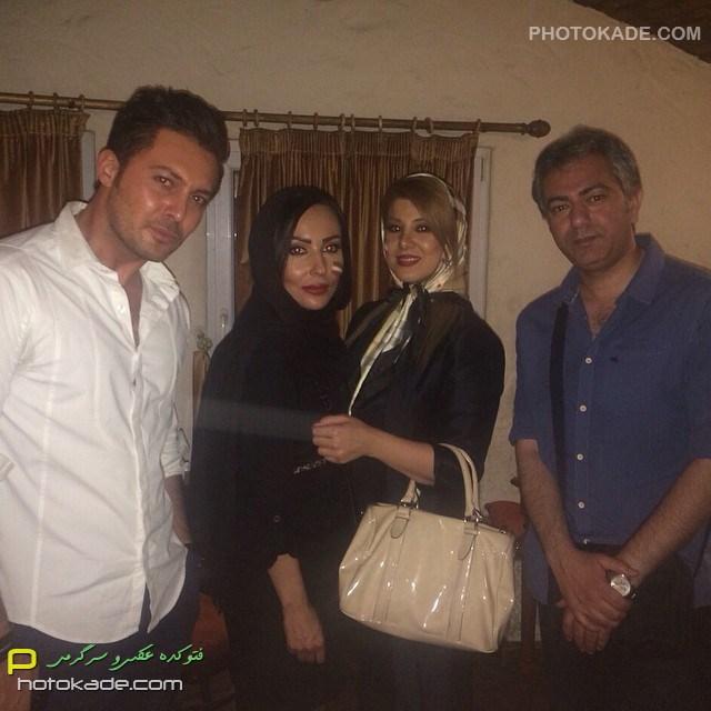 عکس بازیگر مرد محمدرضا هدایتی - پرستو صالحی و دانیال عبادی