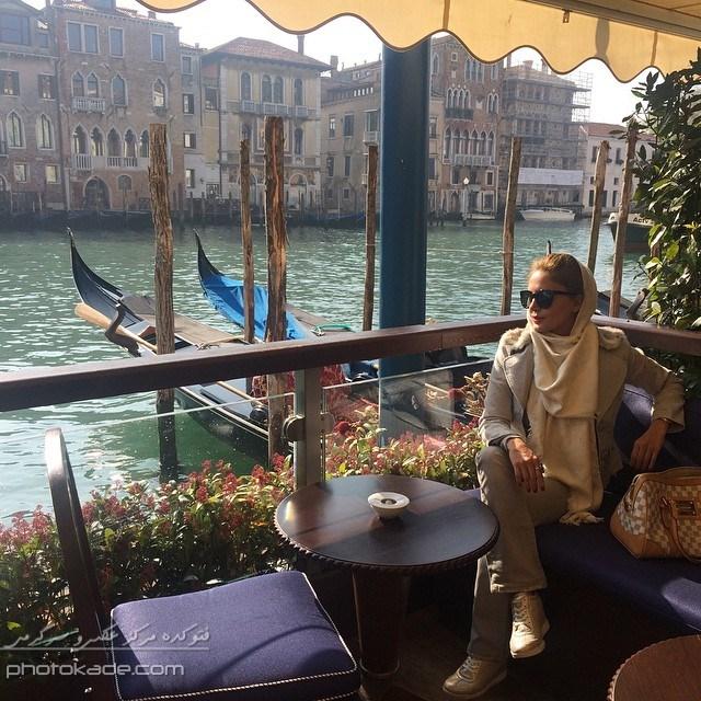 عکس بازیگران زن ایرانی : الناز شاکردوست در خارج از کشور