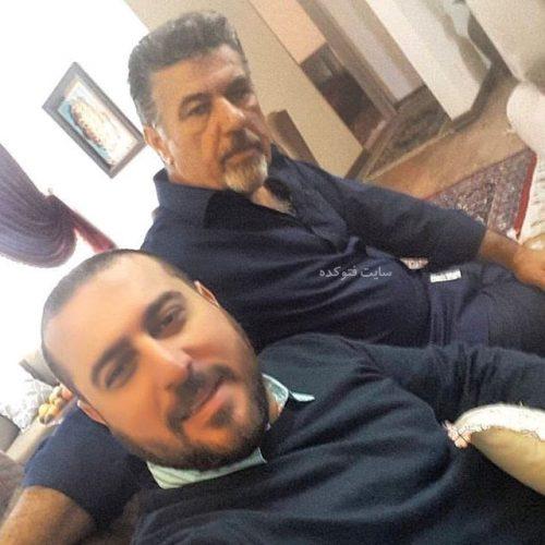 عکس محسن کیایی و پدرش