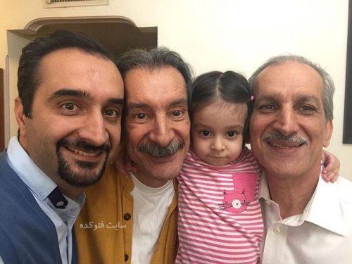 عکس نیما کرمی و پدرش و دخترش در کنار عمویش