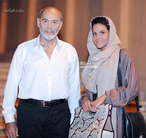 عکس جمشید هاشم پور و دخترش ساناز