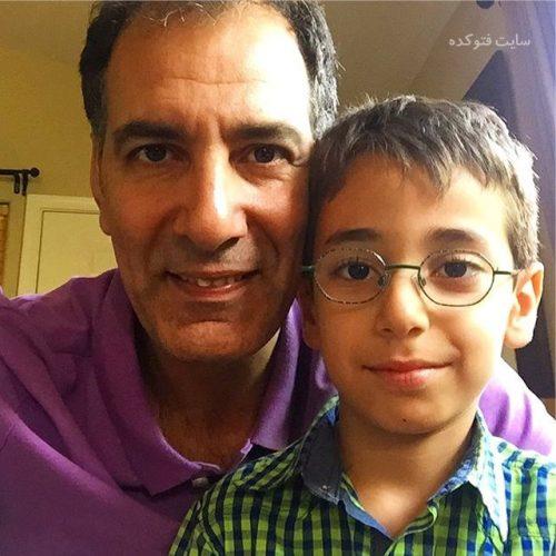 عکس بهنام تشکر و پسرش کاوه