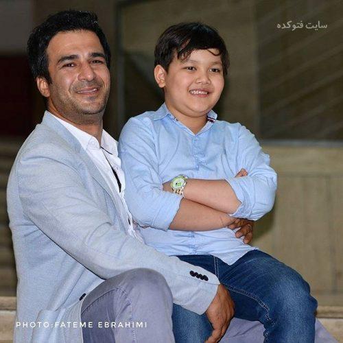 عکس یوسف تیموری و پسرش آرمین