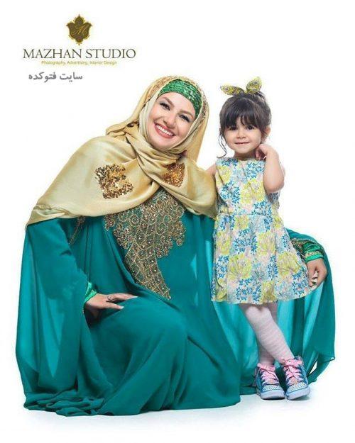 عکس ملیکا زارعی و دخترش مانلی