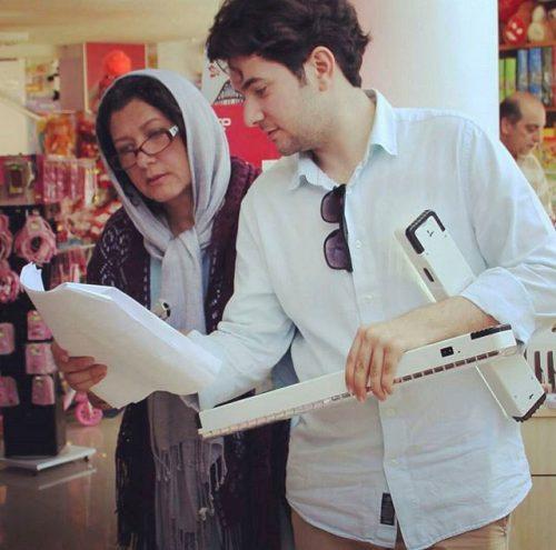 عکس فریبا متخصص و پسرش پوریا