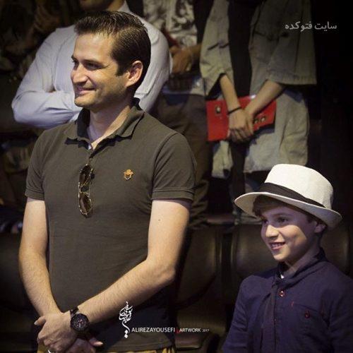 عکس پویا امینی و پسرش ایلیا