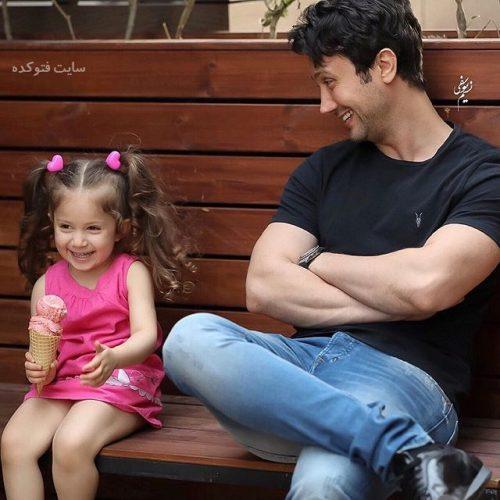 عکس شاهرخ استخری و دخترش پناه