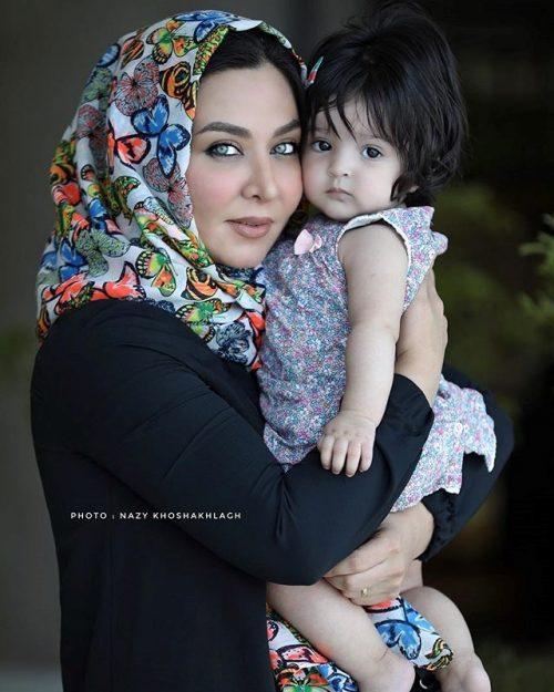 عکس فقیهه سلطانی و دخترش گندم