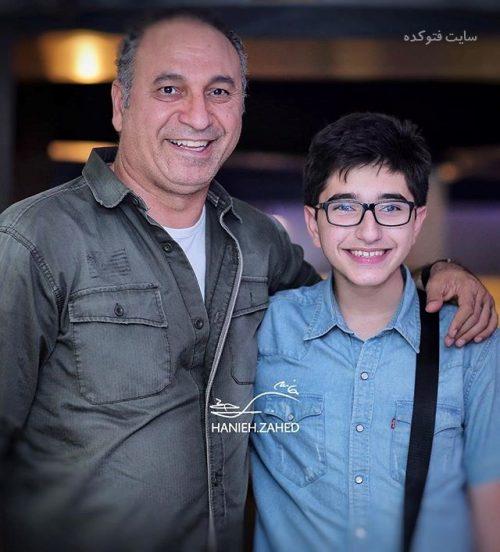 عکسحمید فرخ نژاد و پسرش فرید