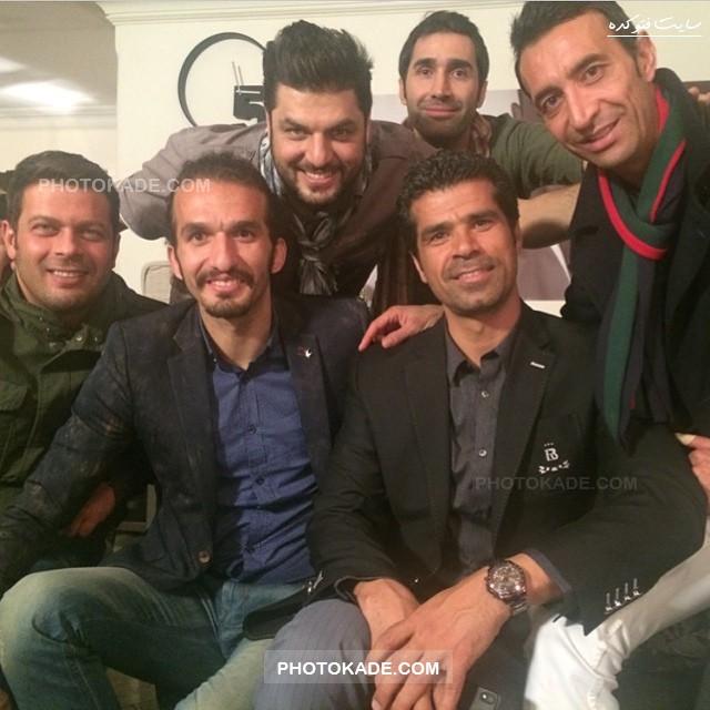 عکس جدید سام درخشانی و بازیکنان فوتبال