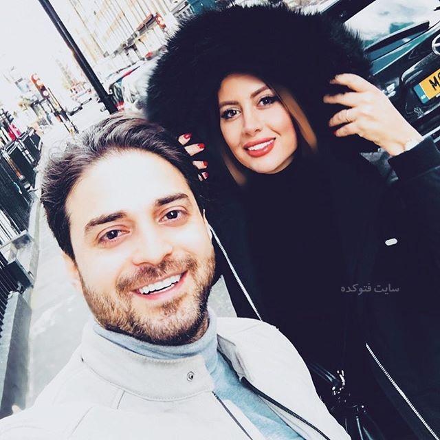 عکس بابک جهانبخش و همسر دومش پریا