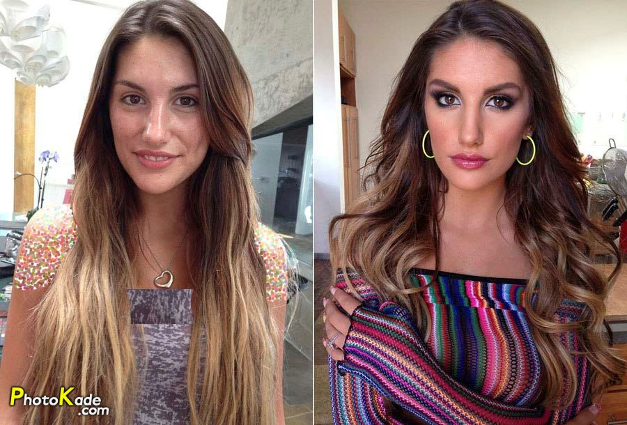 عکس های جالب قبل و بعد از آرایش,عکسهای معجزه آرایش,عکس جالب از از قبل و بعد از میکاپ صورت,تصاویر قبل و بعد میگاپ صورت دختر,عکس عروس قبل و بعد از آرایش