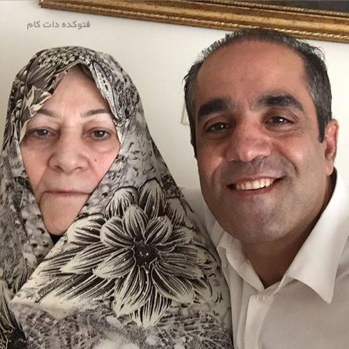 عکس بهنام ابوالقاسم پور و مادرش