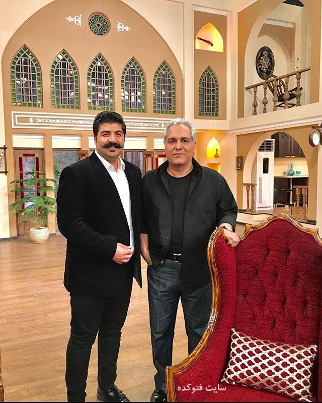 عکس بهنام بانی و مهران مدیری در برنامه دورهمی + زندگینامه